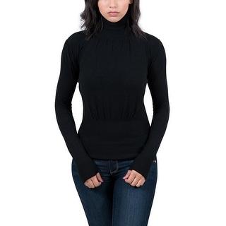 Maglierie Di Perugia Black Turtleneck Womens Sweater