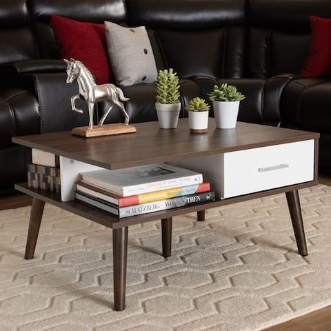 Carson Carrington Aitken Mid-century Modern 2-drawer Coffee Table