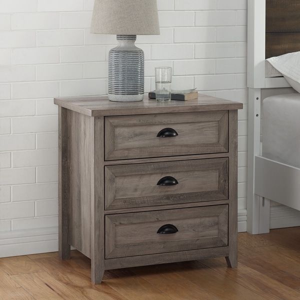 The Gray Barn 3 Drawer Farmhouse Nightstand. Opens flyout.