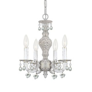 Link to Paris Market 4 Light Clear Crystal White Mini Chandelier - 13.5'' W x 15'' H Similar Items in Chandeliers