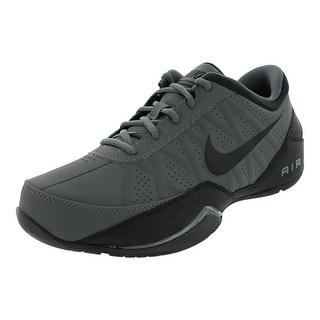 Nike Black Air Ring Leader Basketball Shoes - Men - dark grey / black
