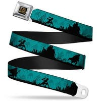 The Lord Of The Rings Full Color Black Gold Gollum Leading Frodo & Samwise Seatbelt Belt