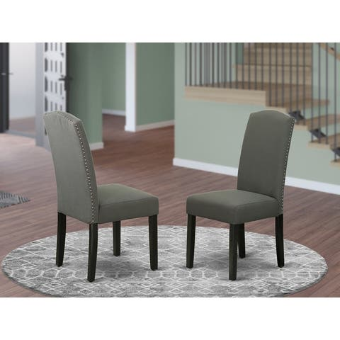 ENP1B20 Encinal parson Chair with Linen fabric-Dark Gotham Grey Color
