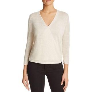 Nic + Zoe Womens Cardigan Sweater Linen Drapey