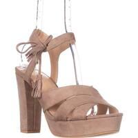 Seven Dials Naomi Ankle-Strap Platform Sandals, Natural - 10 us