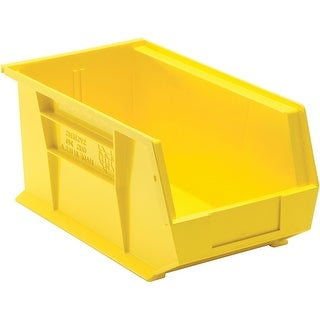 "Quantum QUS240YL Yellow Storage Bin, 14-3/4"" Length"