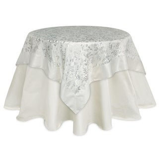 Pack of 2  Ivory Winter Leaf Table Toppers 54""