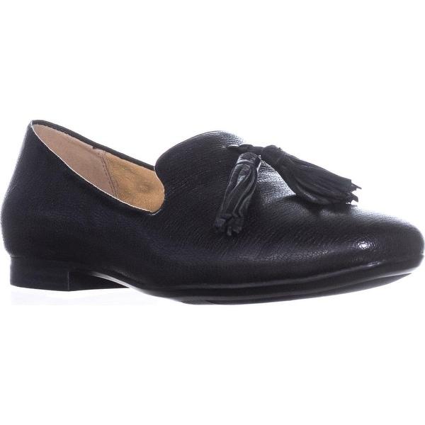 naturalizer Elly Slip-On Tassel Loafers, Black Leather - 5.5 us / 35.5 eu