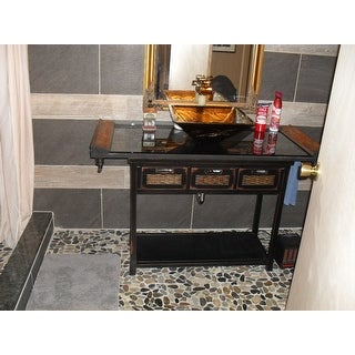 Safavieh Corby Distressed 3-Drawer Black Console Table