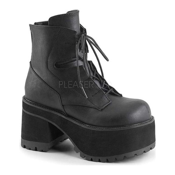 37fab024b6 Shop Demonia Women's Ranger 102 Lace-Up Platform Ankle Boot Black Vegan  Leather - Free Shipping Today - Overstock - 15447008
