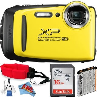 FujifilmFinePix XP130 Digital Camera+ SanDisk 16GB Ultra UHS-I SDHC Class 10 + Deluxe Starter Kit Bundle(International Model)
