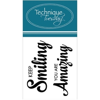 """Technique Tuesday Clear Stamps 2""""X2.5""""-Keep Smiling"""