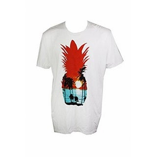 Fruit of the Loom NEW White Mens Size XL Pineapple Graphic Tee T-Shirt