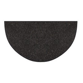 "Goods Of The Woods 10320 Andiron Wool Hearth Rug, Half Round, Black, 27""X48"""