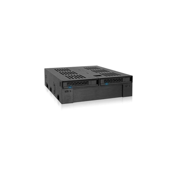 "Icy Dock MB322SP-B Icy Dock ExpressCage MB322SP-B Drive Enclosure Internal - Black - 3 x Total Bay - 1 x 3.5"" Bay - 2 x"
