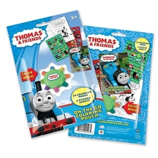 Thomas On the Go Coloring Pouch with Color Wheel, Pack of 12