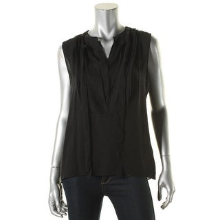Elie Tahari Womens Blouse Silk Pintuck - m