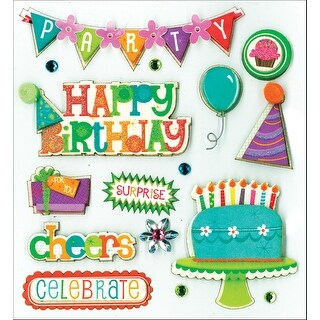 K&Co Dimensional Stickers-Birthday Wish