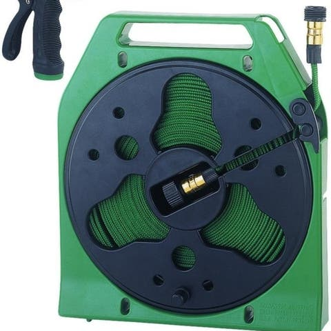 Mintcraft YP1121 50 Ft. Flat Hose Reel With 1 Nozzle & 1Ma
