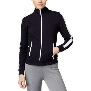 MICHAEL Michael Kors Womens Athletic Jacket Cotton Striped