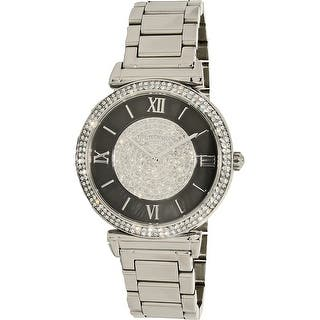 Michael Kors Women's Caitlin MK3331 Silver Stainless-Steel Plated Dress Watch|https://ak1.ostkcdn.com/images/products/is/images/direct/a4b1d06f4c02bb5902fde7ac958655fd8a3fd347/Michael-Kors-Women%27s-Caitlin-MK3331-Silver-Stainless-Steel-Plated-Dress-Watch.jpg?impolicy=medium