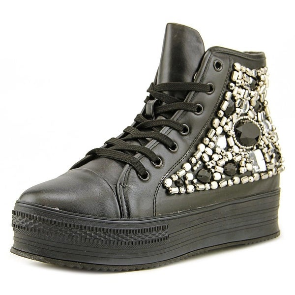 N.Y.L.A. Marinba Women Round Toe Synthetic Black Sneakers