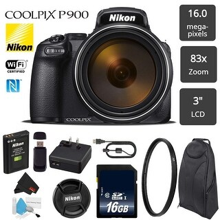 Nikon COOLPIX P900 Digital Camera 16MP 83x Optical Zoom & Built-in Wi-Fi + UV Protection Filter - Bundle (Intl Model)