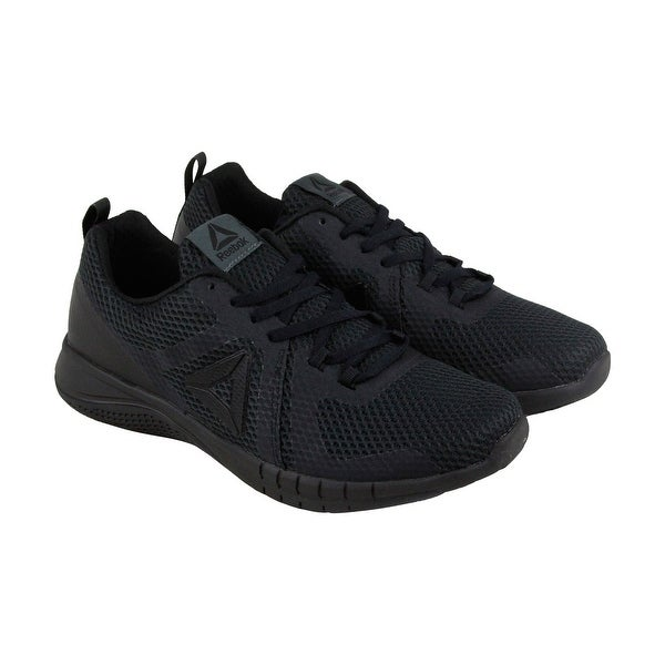 Shop Reebok Print Run 2.0 Mens Black Mesh Athletic Lace Up Running ... b40448cdf