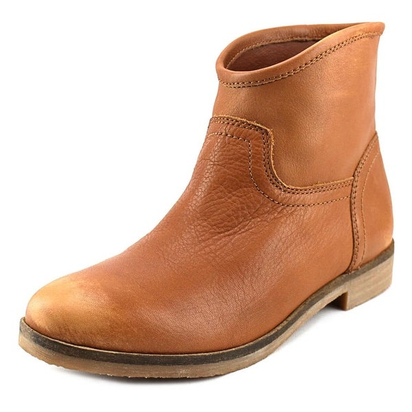 Lucky Brand Garmann Women  Round Toe Leather Brown Ankle Boot