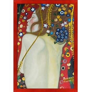 Gustav Klimt 'Sea Serpents IV' (modest - Luxury Line) Hand Painted Oil Reproduction
