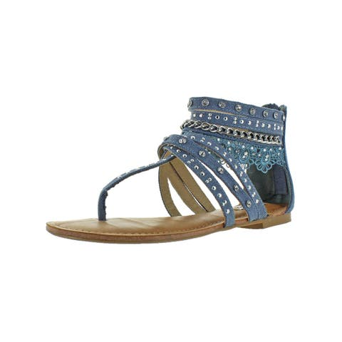 Not Rated Womens Wilma Gladiator Sandals Canvas Ankle
