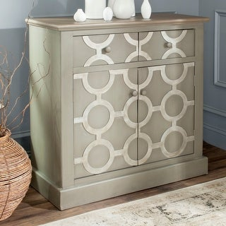 Link to Safavieh Petula Grey Storage Chest Similar Items in Chests
