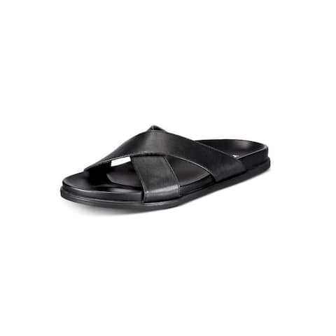 Alfani Mens Codi Sandal Leather Slip On Open Toe Slides - 8