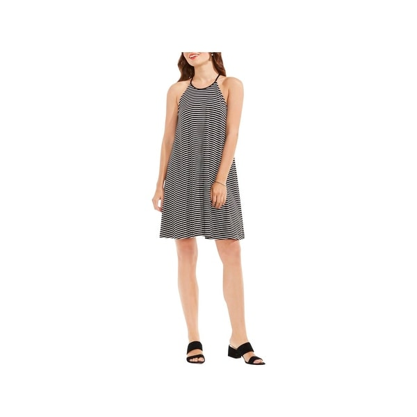 Vince Camuto Womens Casual Dress Striped Halter
