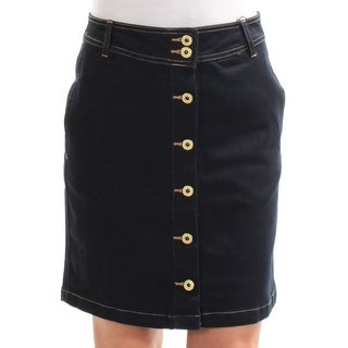TOMMY HILFIGER $70 Womens New 1386 Navy Above The Knee A-Line Casual Skirt 2 B+B