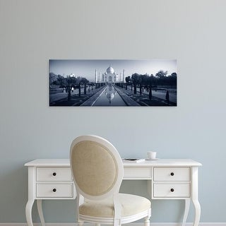 Easy Art Prints Panoramic Image 'Reflection of a mausoleum on water, Taj Mahal, Agra, Uttar Pradesh, India' Canvas Art