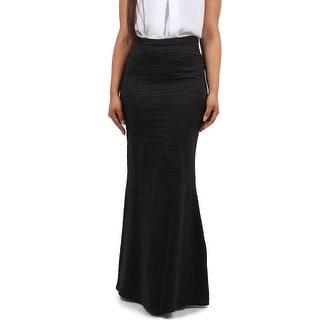 Satin Horizontal Pleat Skirt