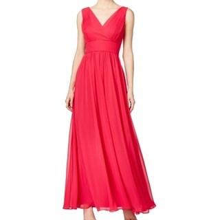 Calvin Klein NEW Pink Pleated Chiffon Women's 12 Empire Waist Dress