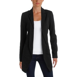 Calvin Klein Womens Open-Front Blazer Collared Long Sleeve