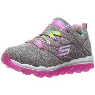 Skechers Kids Girls' Skech-Air-Bounce Life Sneaker,Gray/Hot Pink,