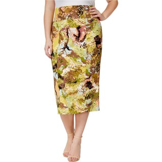 Seven7 Womens Plus Pencil Skirt Printed Stretch - 3X