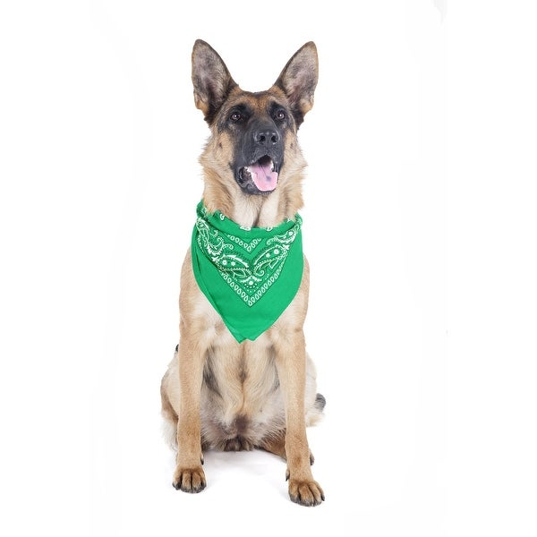 5 Pack Paisley Polyester Pets Dogs Bandana Triangle Shape - Oversized
