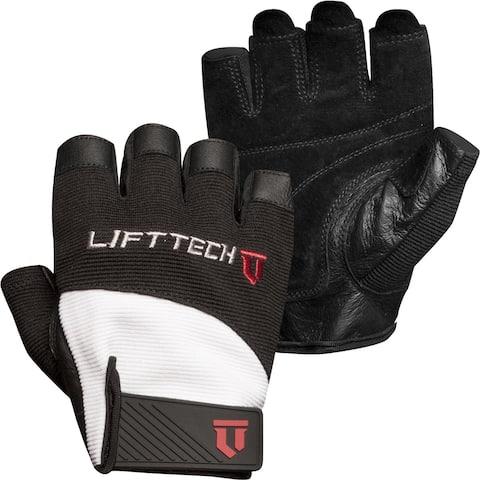 Lift Tech Fitness Elite Weight Lifting Gloves - White/Black