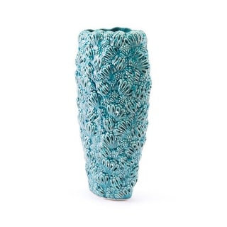 Petals Vase Teal Ceramic