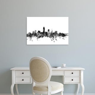 Easy Art Prints Michael Tompsett's 'Cleveland Ohio Skyline' Premium Canvas Art