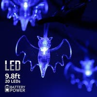 Halloween Copper Wire String Lights,Bat Pendants,8 Modes