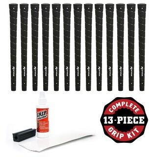 "Karma Wrapâ""¢ Black Standard - 13 piece Golf Grip Kit (with tape, solvent, vise clamp)"
