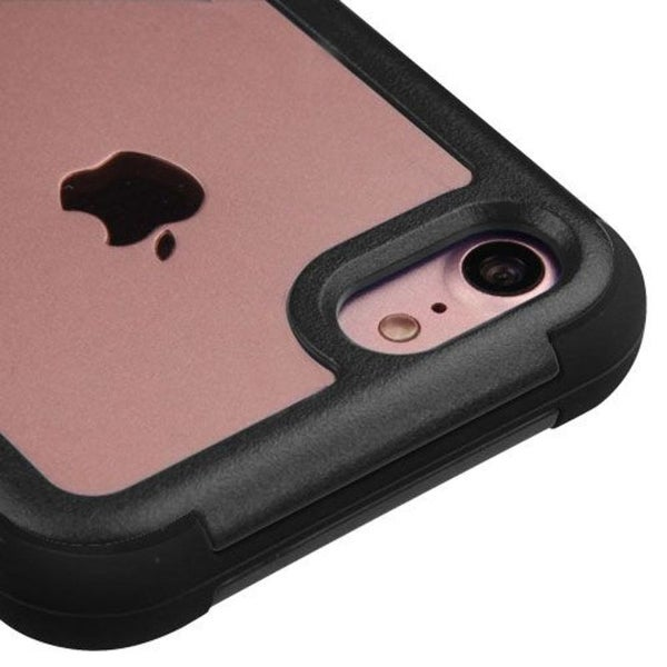 Insten Hard PC/ Silicone Hybrid Dual Layer Crystal Case Cover For Apple iPhone 7