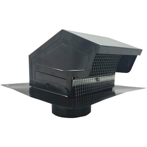 Builder's best 012635 black metal roof vent cap (4 collar)