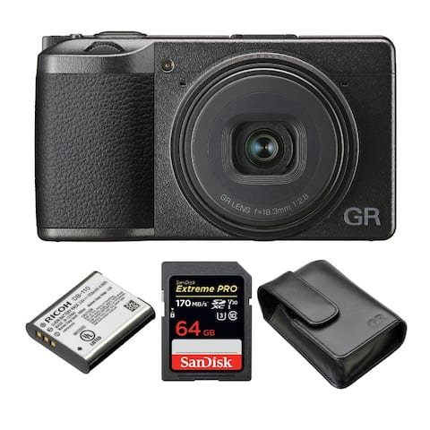 Ricoh GR III Premium Compact Digital Camera with Battery and 64GB Card